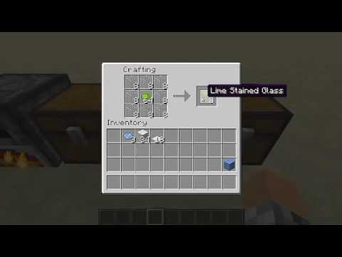 farbiges glas craften minecraft tutorials youtube. Black Bedroom Furniture Sets. Home Design Ideas