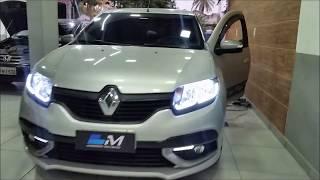 Renault Sandero Farol barra de led