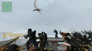 Counter Strike Source Zombie Escape mod online gameplay on the Lost World redux map