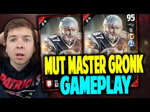 MUT MASTER GRONKOWSKI GAMEPLAY! BEAST!! MADDEN 17 ULTIMATE TEAM