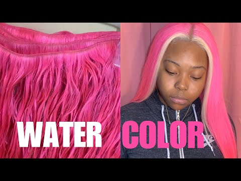 WATER COLOR | NEON PINK w/ BLONDE PATCH