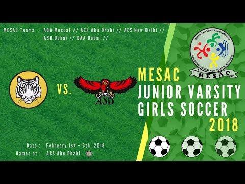 JV Girls Football MESAC 2018: AES vs ASD at ACS