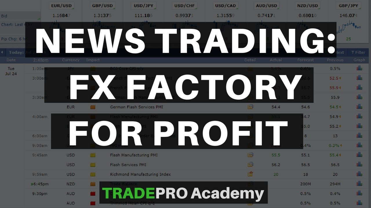 News Trading: Forex Factory tutorial.
