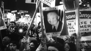 Eisenhower becomes the President after a land slide victory in United States. HD Stock Footage