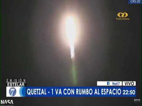 Histórico lanzamiento del satélite Quetzal -1