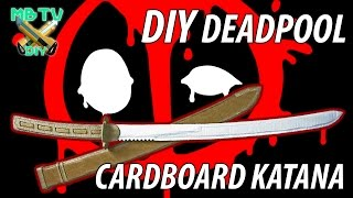Deadpool Movie DIY Cardboard Sword / Katana with Display Board