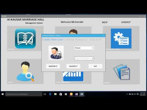 Al-Kousar Marriage Hall Management System Mannual - YouTube