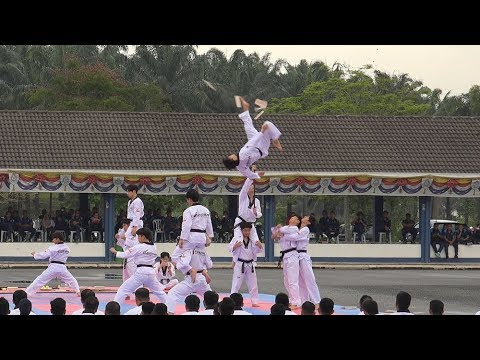 Kukkiwon Taekwondo Demonstration Team at Kem Batalion 4 PGA
