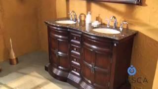 Fresca Vologne Antique Double Sink Bathroom Vanity - FVN6349