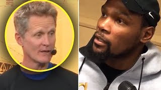 "Kevin Durant Tells Media ""I'm GOING TO LA NEXT SEASON"" & Steve Kerr SHUTS HIM DOWN"
