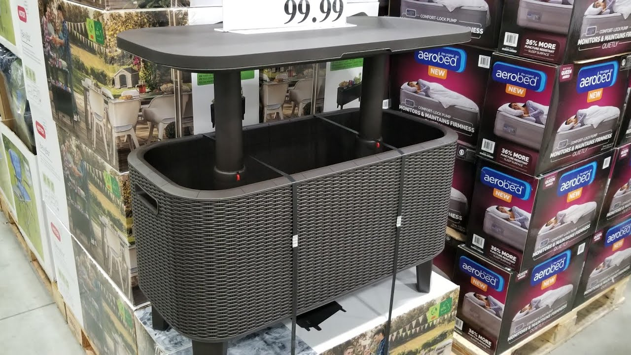 costco keter bevy bar table cooler