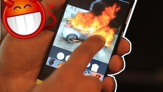 مقلب صديقك : تطبيق يشعل انار بالسيارات