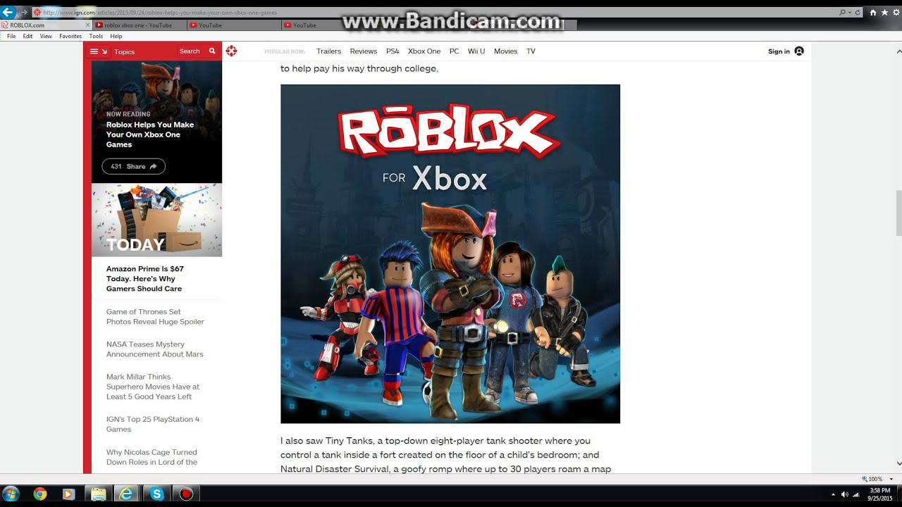 Xbox One On Roblox Update Youtube