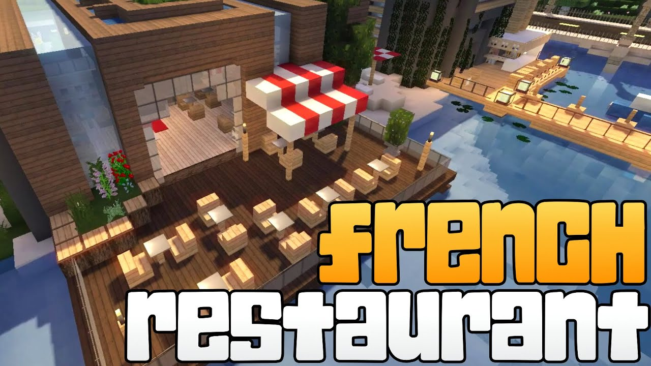 how to build a fancy restaurant in minecraft