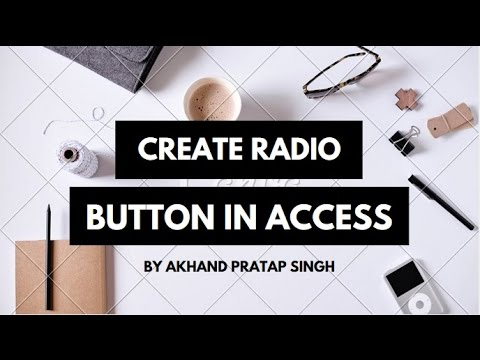 How create Radio Button  in access