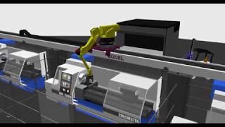 Robotic Machine Tending Simulation