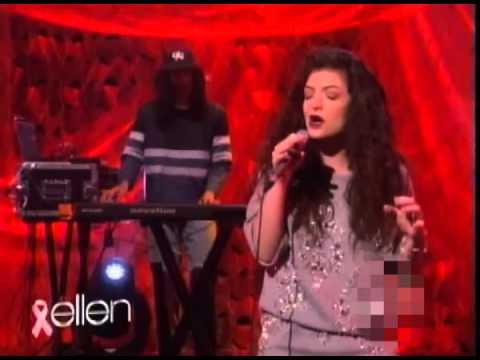 Lorde - Royals Live on Ellen.