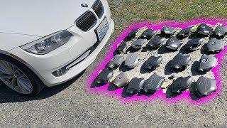 100 Air Bags vs. Car