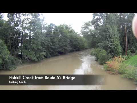 Hurricane Irene - Fishkill Creek 8-28-11, Glenham, Fishkill And Brinckerhoff. NY