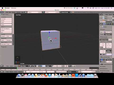 Setting up blender for use with a Mac laptop and a trackpad