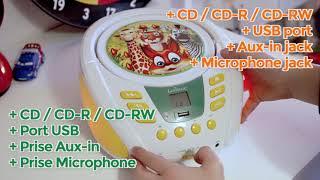 Lecteur CD Bluetooth avec Effe…