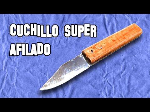 Como afilar tus cuchillos o navajas funnycat tv for Como pulir un cuchillo