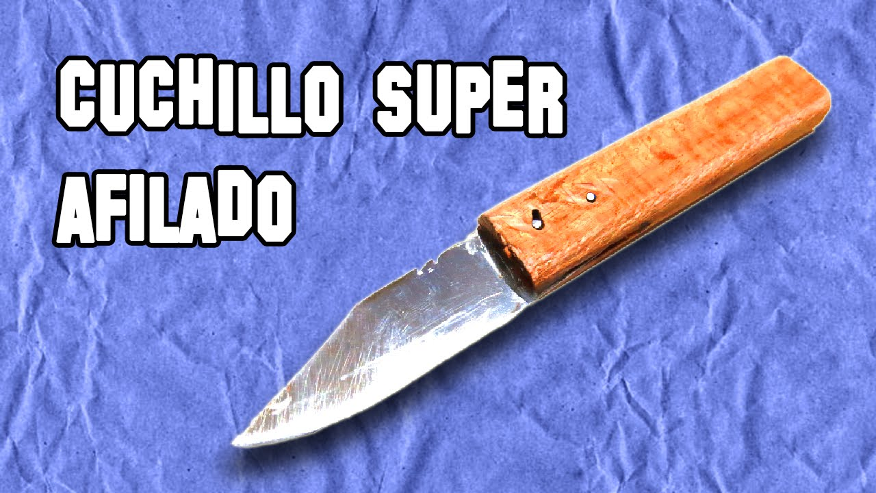 C mo hacer un cuchillo super afilado youtube for Como pulir un cuchillo