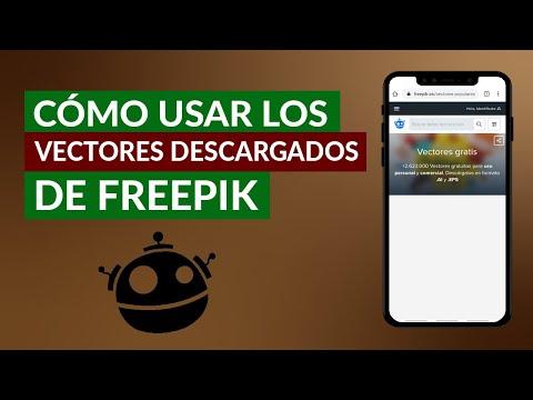 Cómo Usar o Modificar los Vectores Descargados de Freepik