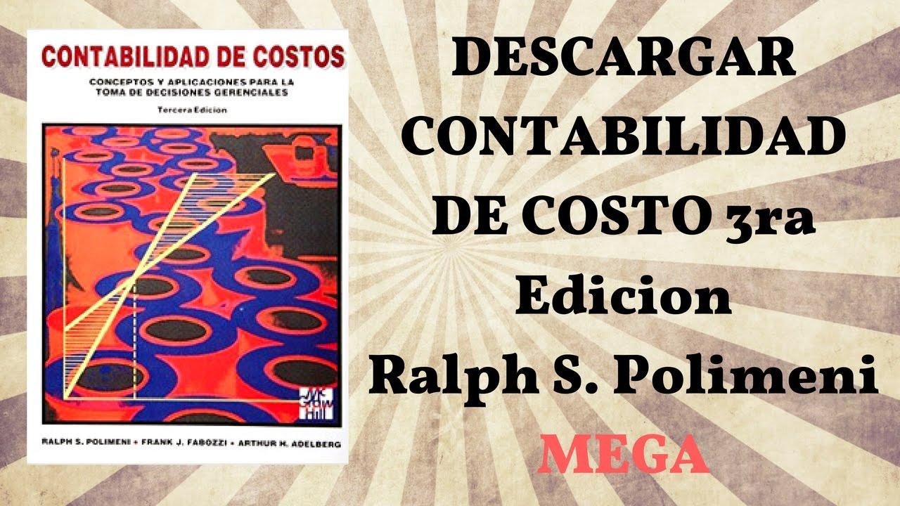 Descargar libro contabilidad de costos 3ra edici n ralph s Libros de ceramica pdf