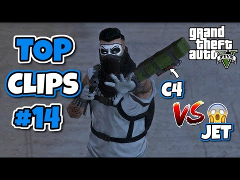 STICKY BOMB VS JET?! TOP CLIPS #14   GTA 5 TOP CLIPS OF THE WEEK
