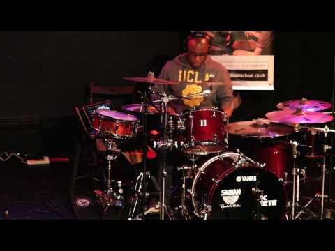 Derrick McKenzie (Jamiroquai's Drummer) Performing At East London Drum School
