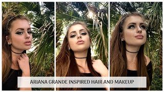 ARIANA GRANDE HAIR AND MAKEUP LOOK | Easy Ariana Grande Classic Makeup