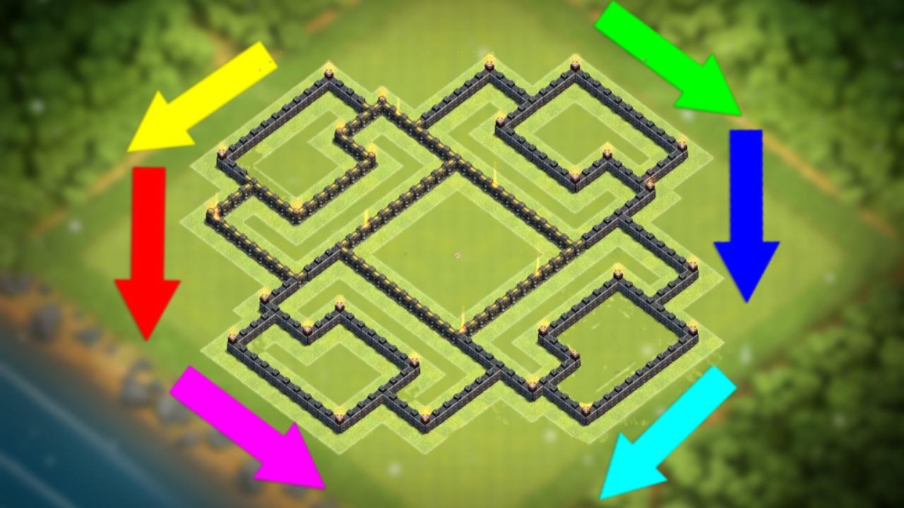 Unbeatable Coc Th9 Best Defense Base 4