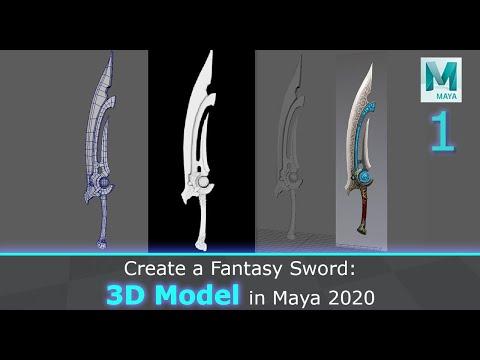 Create A Fantasy Sword: 3D Model In Maya 2020 (1/3)