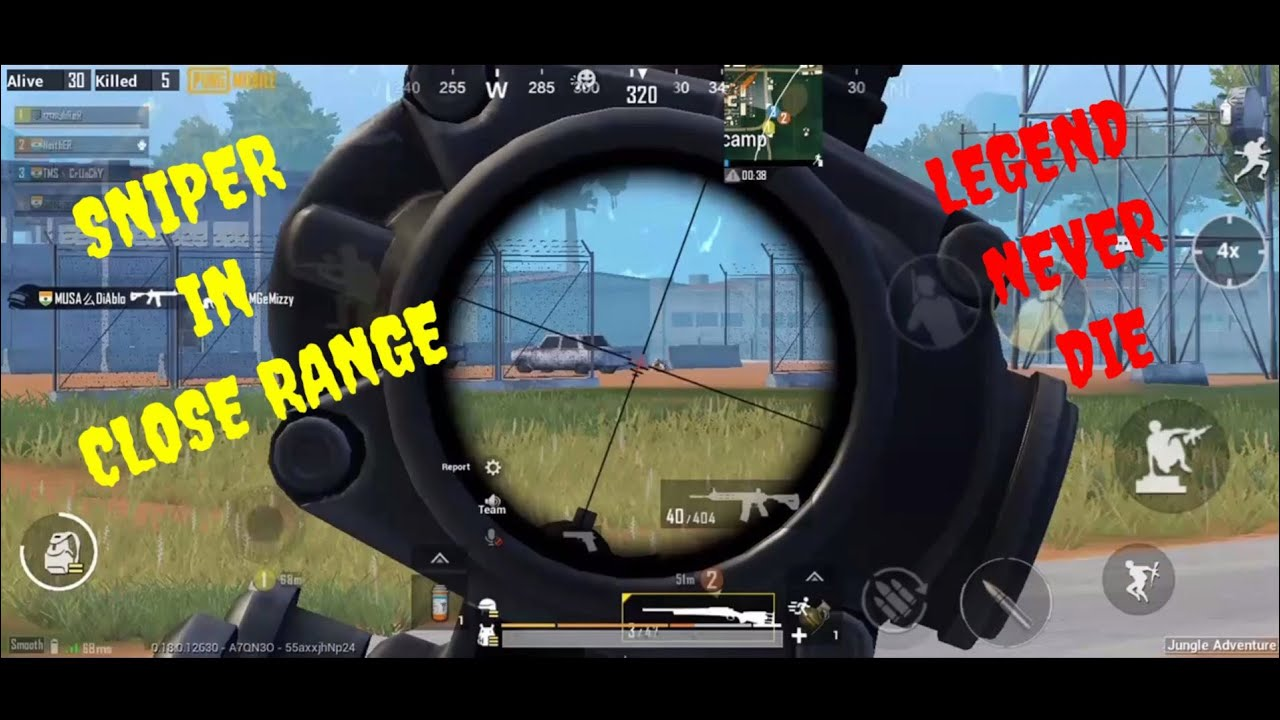 WHAT HAPPEN WHEN I USE SNIPER IN CLOSE RANGE | LEGEND NEVER DIE | USE HEADPHONE