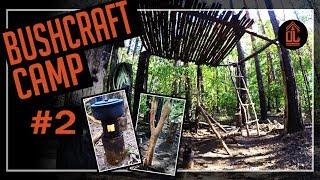 ÜL#31 BUSHCRAFT CAMP#2|shelter|Lager|bauen|deutsch|Sägebock|Holzvergaser|kochen|Baumhaus|treehouse