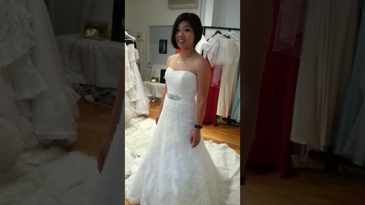 Tina Reverie Wedding Dress Made to Order & Alterations - YouTube