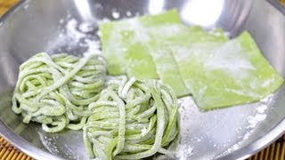 Green Noodles and Green Wonton Sheets (Ba Mee Yok with Pan Giaew Yok)