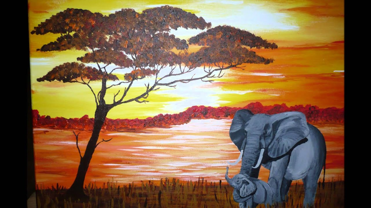 My galerie youtube - Dessin paysage africain ...