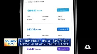 <b>Affirm</b> prices IPO at $49 per share
