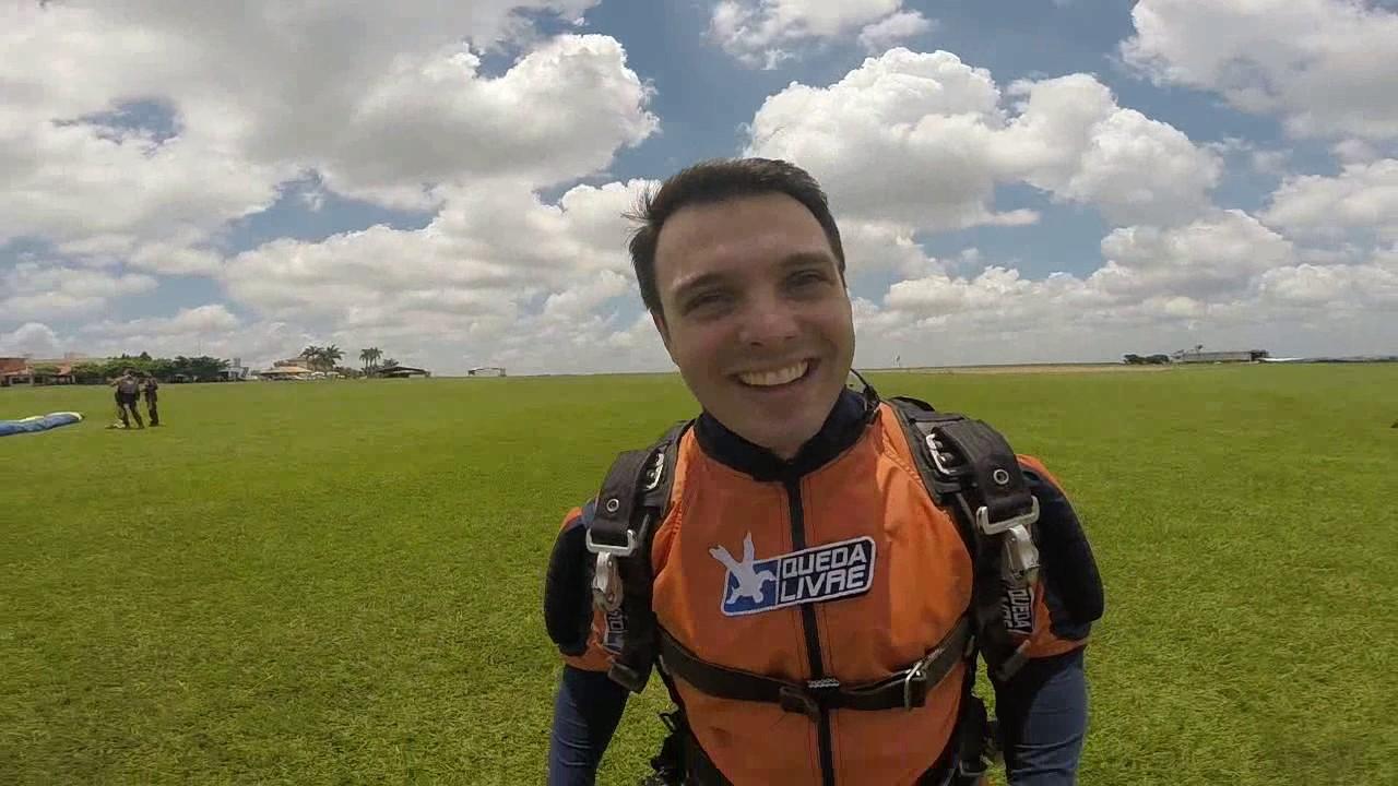 Salto de Paraquedas do Rafael N na Queda Livre Paraquedismo 14 01 2017