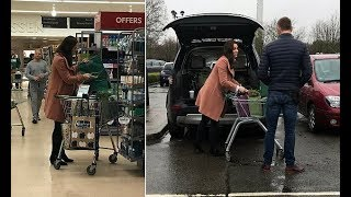 Pregnant Kate Middleton spotted shopping at Waitrose in Norfolk