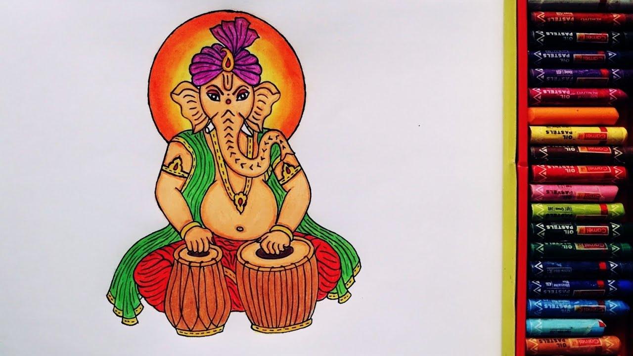 Baal Ganesha Drawing Step By Step | Painting Of Ganapati Bappa | Ganesh Ji Drawing | By Drawing Art