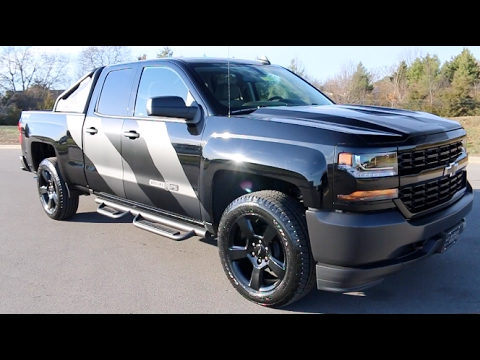 2017 chevy silverado 1500 double cab 4x4 5 3l v8 special ops edition wilson county chevy youtube. Black Bedroom Furniture Sets. Home Design Ideas