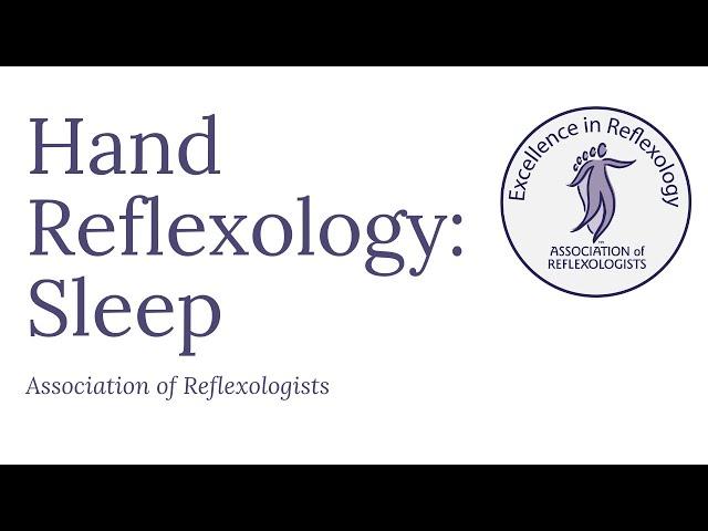 reflexology sleep