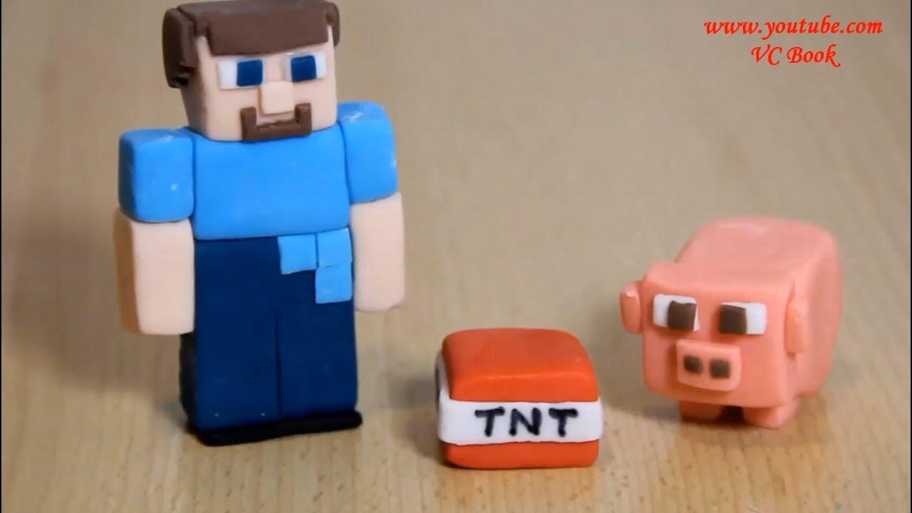 Фигурки майнкрафт из мастики. Minecraft. СТИВ из MineCraft