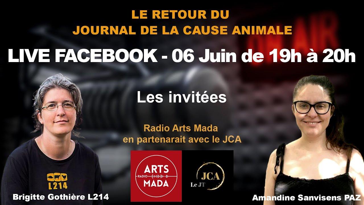 JT 1 - Le Journal de la Cause Animale : Brigitte Gothière et Amandine Sanvisens