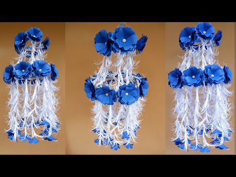 DIY Easy Paper Flower Chandelier Decoration at Home