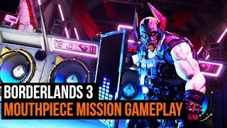 Borderlands 3 gameplay - Mouthpiece mission and Boss fight