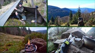 Doku - Eine kalte Nacht im Schwarzwald. Wander-Tour mit Übernachtung in den Bergen.